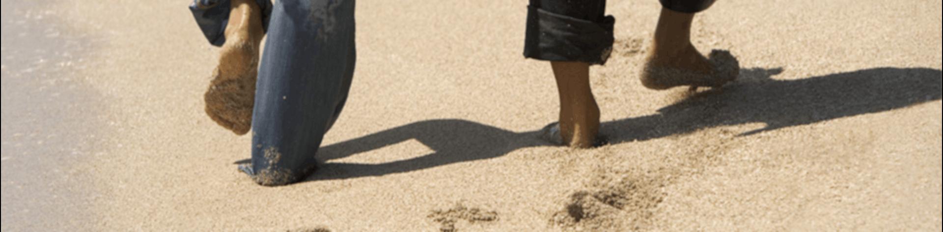 Fødder i sandet